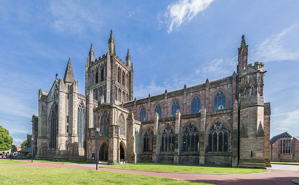 Hereford Cathedral Exterior from NW, Herefordshire